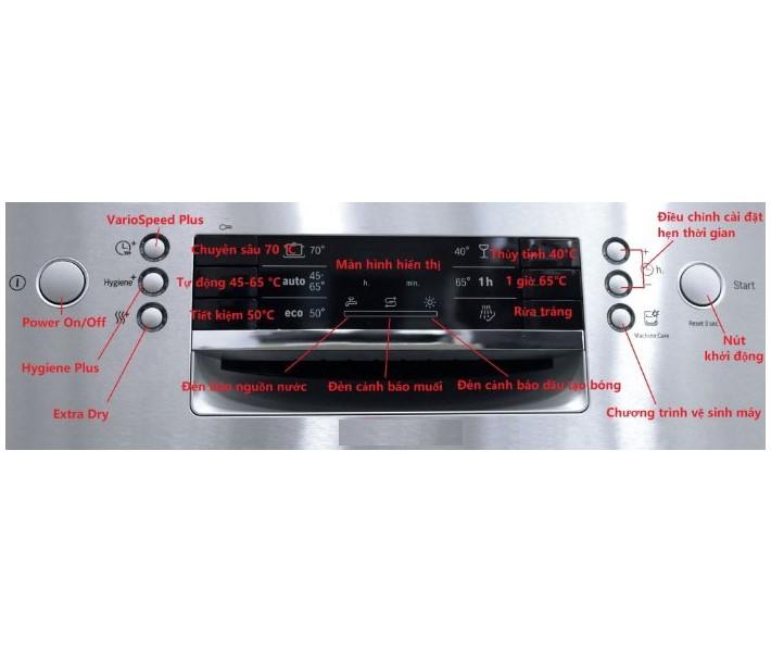 Màn hình hiển thị của máy rửa bát Bosch SMI46KS01E