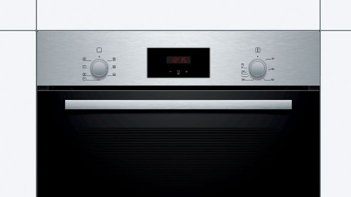 Lò nướng Bosch HBF113BR0A có màn hình hiển thị thời gian và nhiệt độ sắc nét