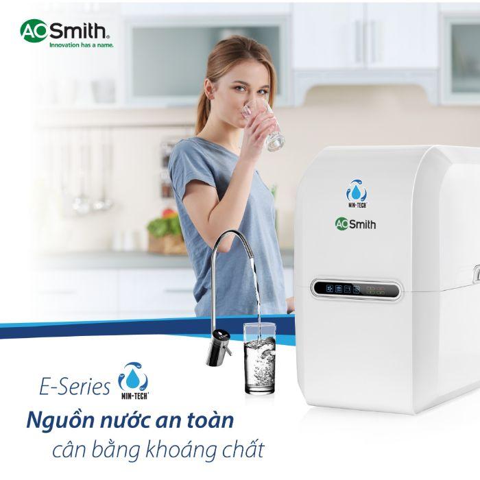 Chất lượng nguồn nước an toàn tuyệt đối với máy lọc nước Aosmith E3
