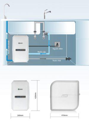 Thông tin lắp đặt của máy lọc nước A.O smith G2