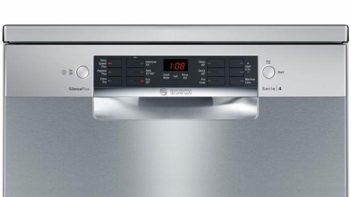 Thao tác sử dụng của máy rửa bát Bosch SMS46MI01G trực tiếp, một chạm