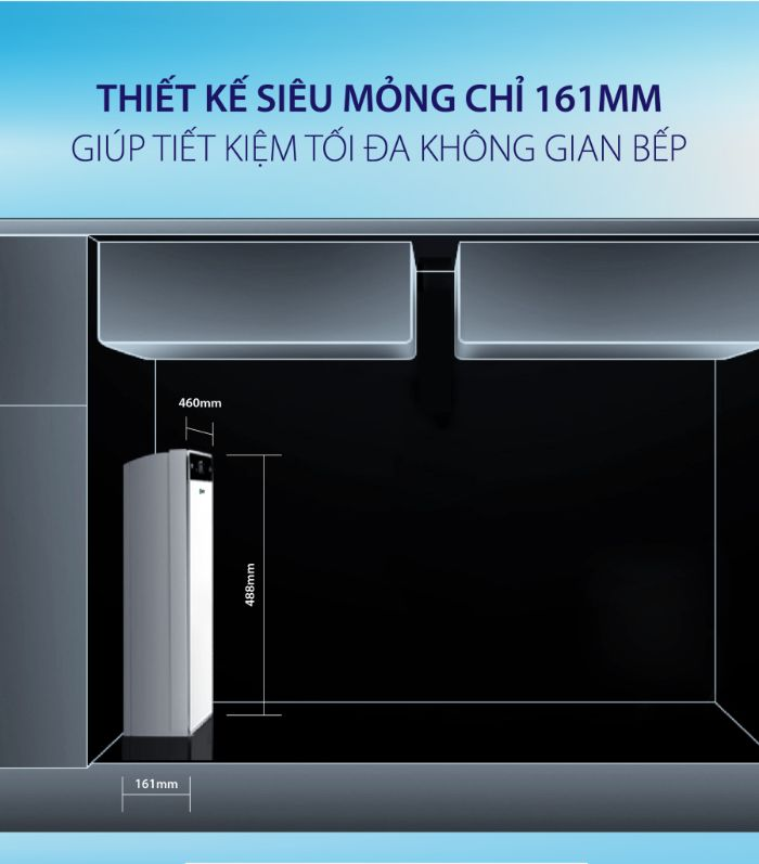 Máylọc nước A.O.Smith UV AR600-U3 với thiết kế bình chưa siêu mỏng