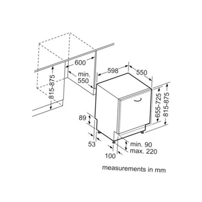 Thông số kĩ thuật của máy rửa bát Bosch SMV46KX01E serie 4