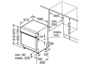 Thông số kĩ thuật lắp đặt của Bosch SMI68NS07E