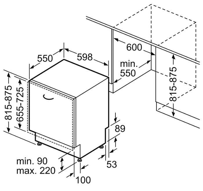 Thông số kích thước Bosch SMV6ZCX49E