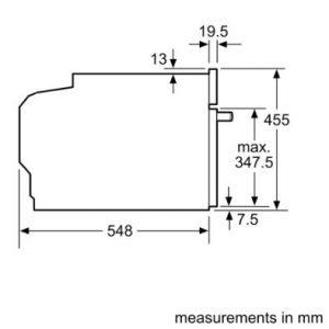 Thông số lắp đặt của Lò nướng kết hợp vi sóng Bosch CMG633BS1