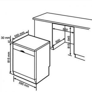 Thông số kỹ thuật của máy rửa bát Bosch SMS88TI03E