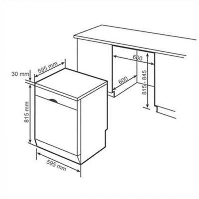 Thông số lắp đặt của máy rửa bát Bosch SMS46MI01G serie 4