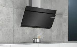 Máy hút mùi Bosch DWK97JQ60Bthiết kế gắn tường, kính nghiên sang trọng