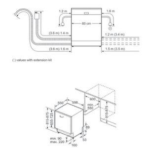 Thông tin lắp đặt của máy rửa bát Bosch SMV68TX06E