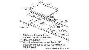 Thông tin lắp đặt của Bếp từ Bosch PXX975DC1E