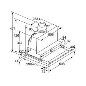 Thông tin lắp đặt của máy hút mùi DFS067J50B