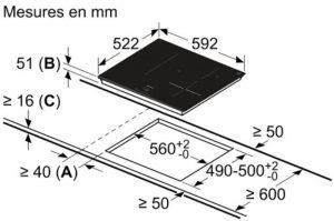 Thông tin lắp đặt của bếp từ Bosch PUJ631BB2E series 4