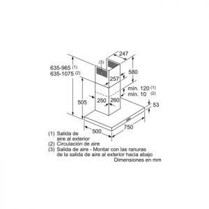 Thông số lắp đặt của máy hút mùi Bosch DWB77IM50