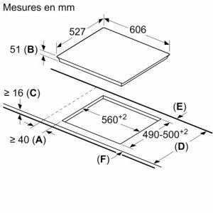 Thông tin lắp đặt của Bếp từ Bosch PXX675DC1E