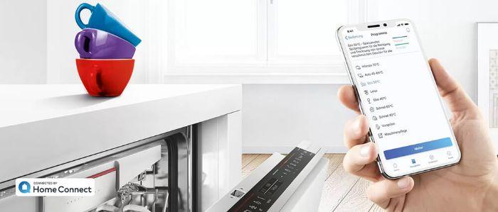 Tính năng homeconnect tiện lợi với máy rửa bát Bosch SMI6ZCS49E