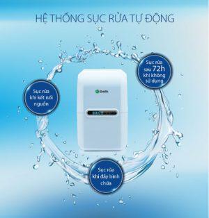 Hệ thống tự sục rửa nổi bật của máy lọc nước AO Smith A2