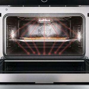 Chức năng vi sóng của lò nướng kết hợp vi sóng Bosch CMG633BB1 được đánh giá cao ( Hình minh họa )