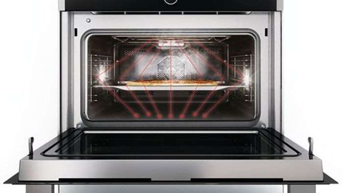 Chức năng lò vi sóng thông minh trên lò nướng kết hợp vi sóng Bosch CMG633BS1