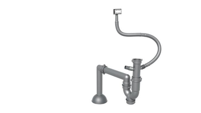 Đường ống thoát nước của chậu rửa bát konox KN5444SU