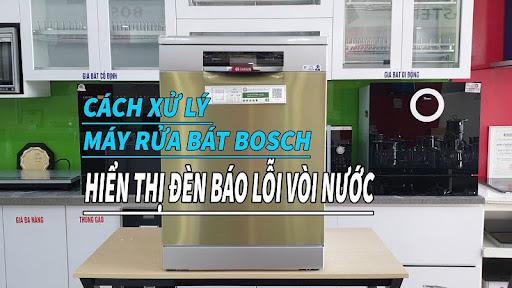 Cách khắc phục máy rửa bát Bosch báo lỗi vòi nước