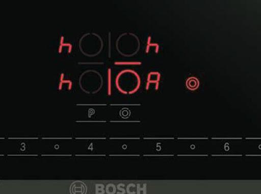 """Ký hiệu của bếp từ Bosch hiện chữ """"h"""""""