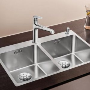 Chậu rửa Blanco andano 340/340-IF sử dụng chất liệu thép không gì cao cấp