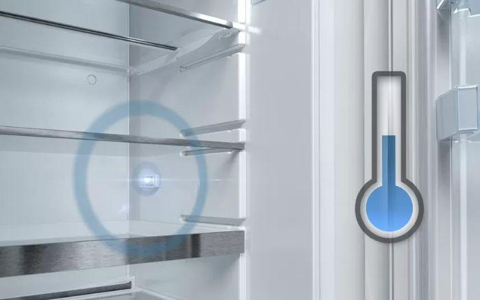 Nhiệt độ lưu trữ hoàn hảo vớiTủ lạnh Bosch Side By Side KAI90VI20G