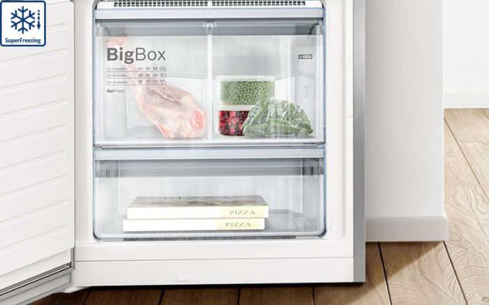Làm lạnh nhanh hơn với Tủ lạnh Bosch 2 cánh Side By Side KAG90AI20G