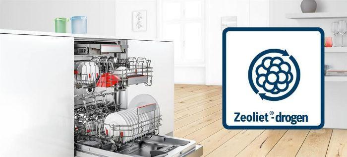 Sấy khô hoàn hảo với tính năng sấy zeolith trên Máy rửa bát Bosch SMI68MS04E