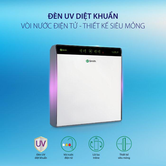Đèn UV diệt khuẩn an toàn được tích hợp trên máy lọc nước AO Smith UV AR75-U2