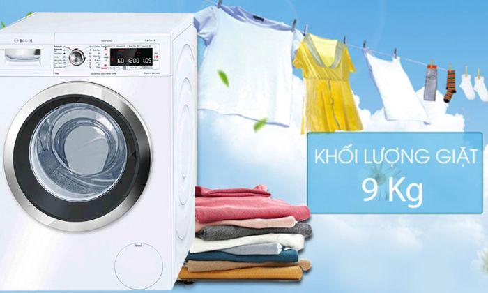 Máy giặt cửa trước Bosch WAW28790HK cho kết quả giặt hoàn hảo với dung tích 9kg