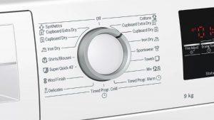 Núm xoay tiện lợi của Máy sấy quần áo Bosch WTW85400SG