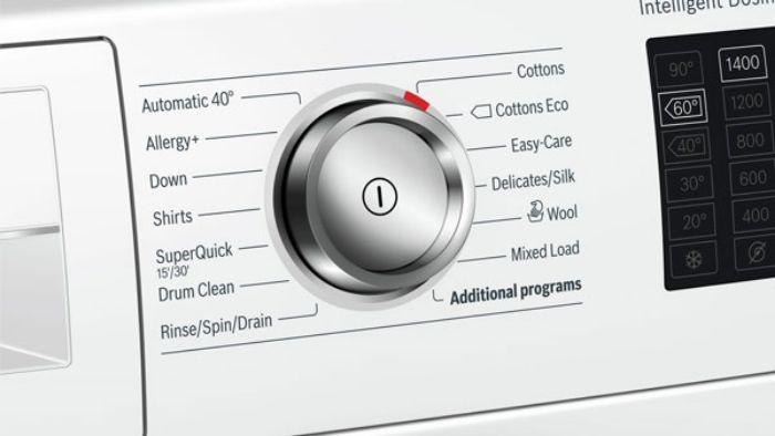 Núm xoay điều khiển tiện lợi của Máy giặt cửa trước Bosch WAT286H8SG