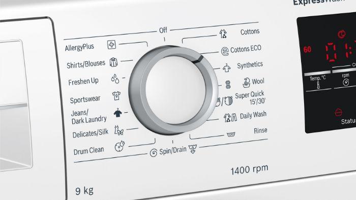 Điều khiển bằng núm xoay của Máy Giặt Bosch WAT28482SG