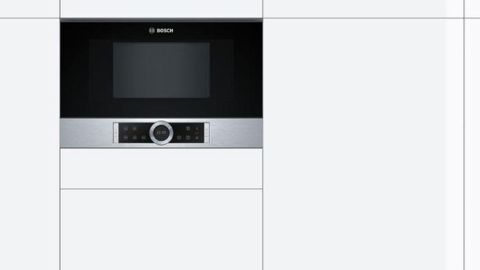 Lò vi sóng Bosch BFL634GS1B phù hợp với hầu hết không gian bếp