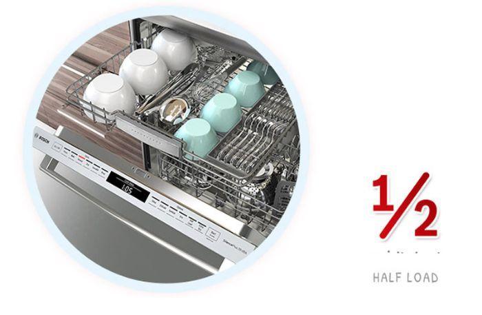 Tính năng rửa nửa tải hoàn hảo với máy rửa bát Bosch SMS4HCI48E