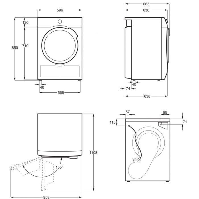 Thông số kỹ thuật của Máy sấy quần áo Bosch WTW85400SG