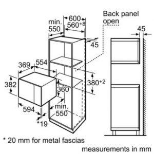 Thông số kỹ thuật của Lò vi sóng Bosch HMT84G654B