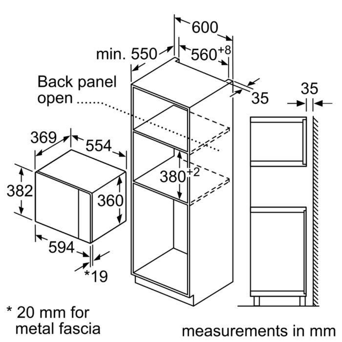 Thông số kỹ thuật của Lò vi sóng Bosch BEL554MS0B