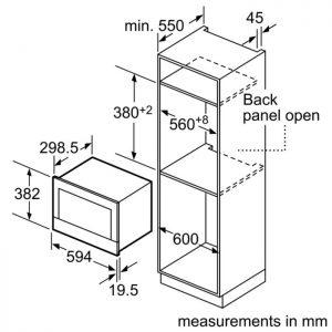 Thông số kỹ thuật của Lò vi sóng Bosch BFL634GS1B