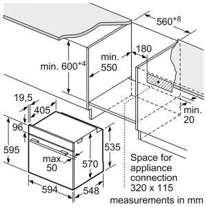Thông số kỹ thuật của lò nướng Bosch HBS534BB0B