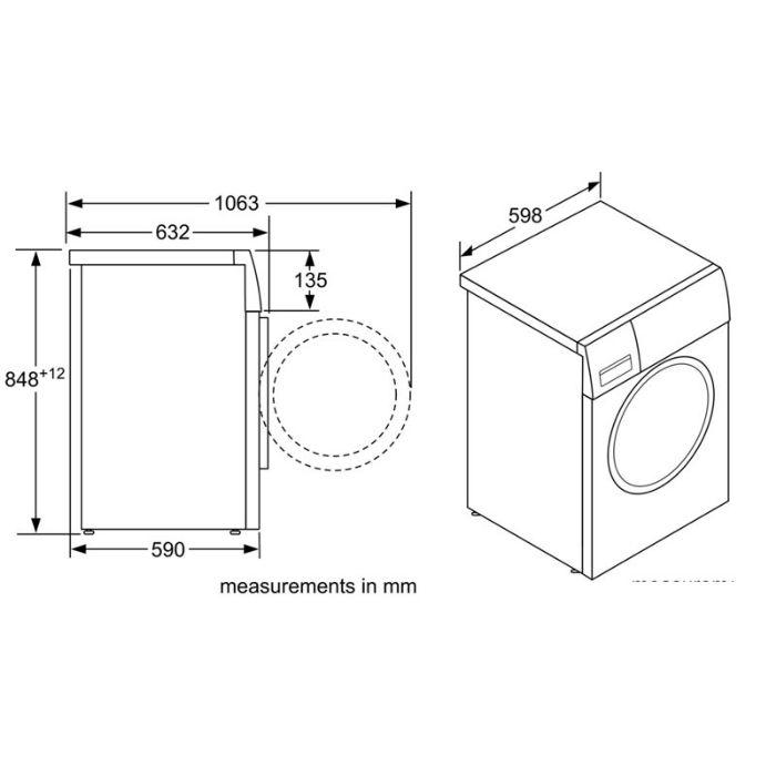 Thông số kỹ thuật của Máy giặt cửa trước Bosch WAW32640EU