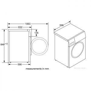 Thông số kỹ thuật củaMáy giặt cửa trước Bosch WAT286H8SG