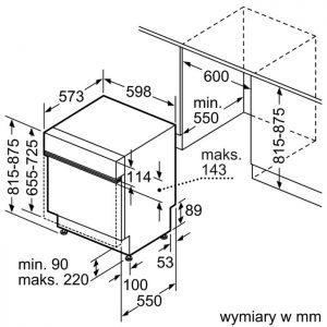 Thông số kỹ thuật của Máy rửa bát Bosch SMI68MS04E