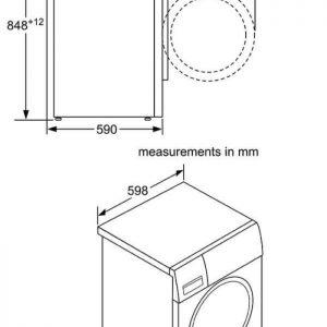 Thông số kỹ thuật của Máy giặt cửa trước Bosch WAW28790HK