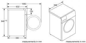 Thông số kỹ thuật củaMáy Giặt Bosch WAV28L40SG