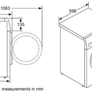 Thông số kỹ thuật của Máy Giặt Bosch WAX32M40SG Series 8