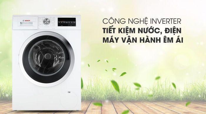 Tiết kiệm năng lượng hơn với Máy giặt cửa trước Bosch WAT24480SG