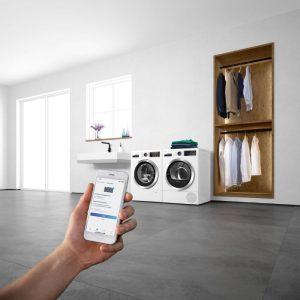 Tính năng homeconnect thông minh của Máy Giặt Bosch WAX32M40SG Series 8